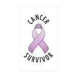 Cancer Survivor Rectangle Sticker 50 pk)