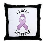 Cancer Survivor Throw Pillow