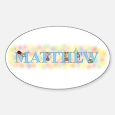 """Matthew"" with Mice Oval Decal"