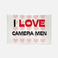 I LOVE CAMERA MEN Rectangle Magnet
