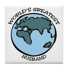 Greatest Husband Tile Coaster