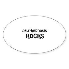 SELF-HYPNOSIS ROCKS Oval Decal