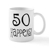 50th birthday for men Coffee Mugs