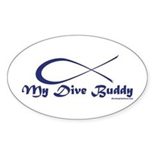 My Dive Buddy Oval Decal