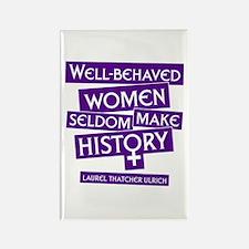 WELL-BEHAVED WOMEN Rectangle Magnet
