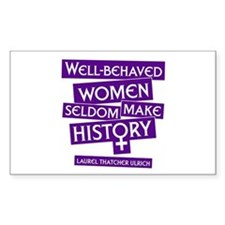 WELL-BEHAVED WOMEN Rectangle Decal