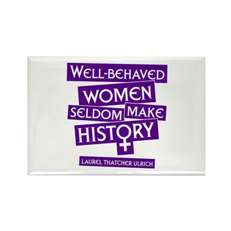 WELL-BEHAVED WOMEN Rectangle Magnet