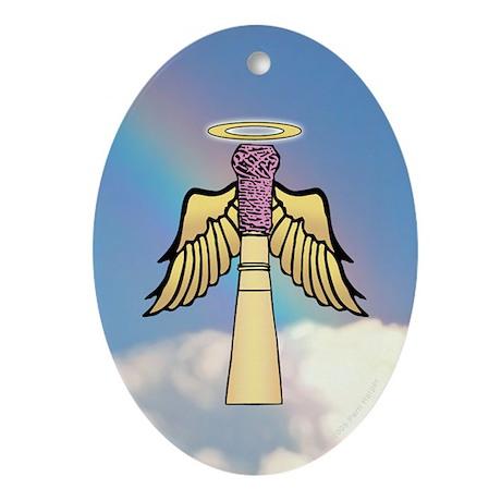 Bassoon Reed Angel Oval Ornament