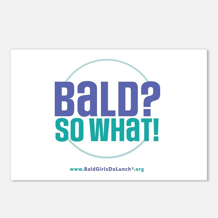 Bald So What Postcards (Package of 8)