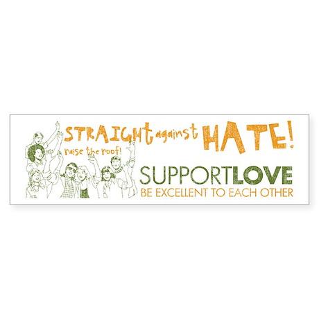 Straight Against Hate Bumper Sticker