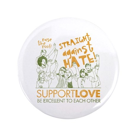 "Straight Against Hate 3.5"" Button"