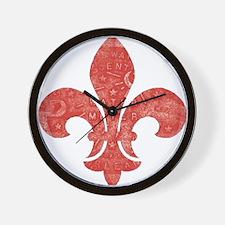 Fleur De Lid Wall Clock