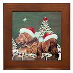 Labrador Christmas Framed Tile