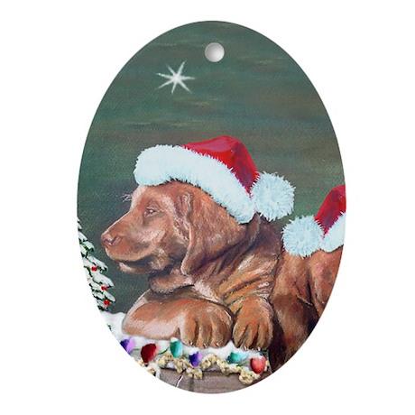 Labrador Christmas Oval Ornament