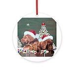 Labrador Christmas Ornament (Round)