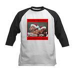 Labrador Christmas Kids Baseball Jersey