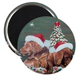 Labrador Christmas Magnet