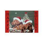 Labrador Christmas Rectangle Magnet