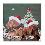 Labrador Christmas Tile Coaster