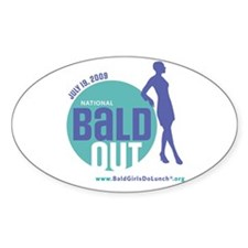 Bald Out Global Logo Oval Decal