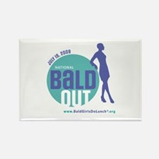 Bald Out Global Logo Rectangle Magnet