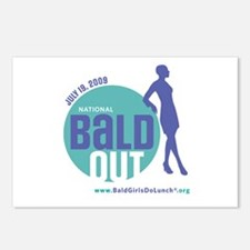 Bald Out Global Logo Postcards (Package of 8)