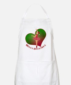 Merry Christmas Dancer BBQ Apron