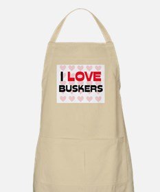 I LOVE BUSKERS BBQ Apron
