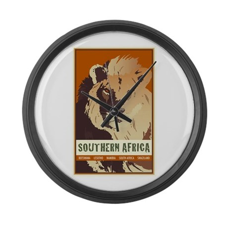 Southern Africa Large Wall Clock
