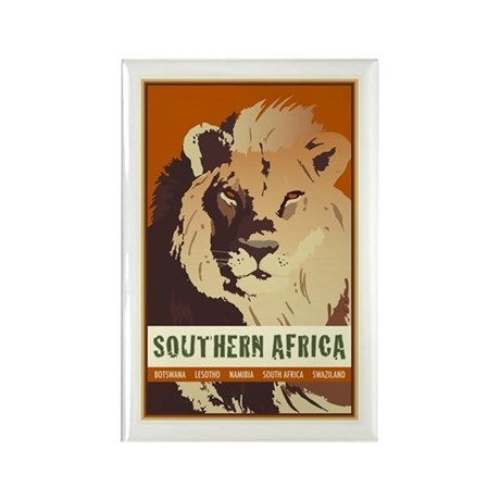 Southern Africa Rectangle Magnet (10 pack)
