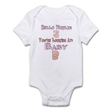 Hello World Baby B Infant Bodysuit