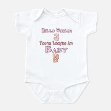 Hello World Baby B Infant Bodysuit