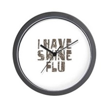 I Have Swine Flu Wall Clock