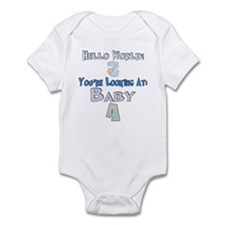 Hello World Baby A Infant Bodysuit