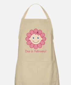 Due in February Baby Girl BBQ Apron