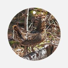 Strutting Spruce Grouse Ornament (Round)