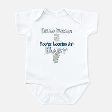 Hello World Baby C Infant Bodysuit