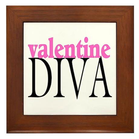 Valentine Diva Framed Tile