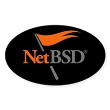 NetBSD Devotionalia Oval Decal