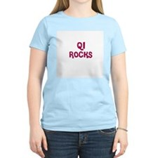 QI  ROCKS Women's Pink T-Shirt