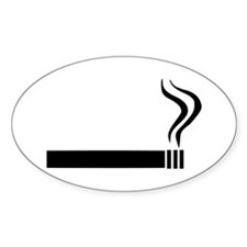 Cigarette Oval Decal