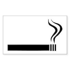 Cigarette Rectangle Decal