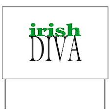 Irish Diva Yard Sign
