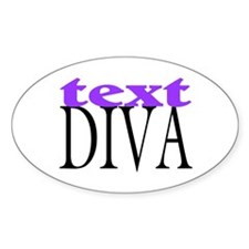 Text Diva Oval Decal