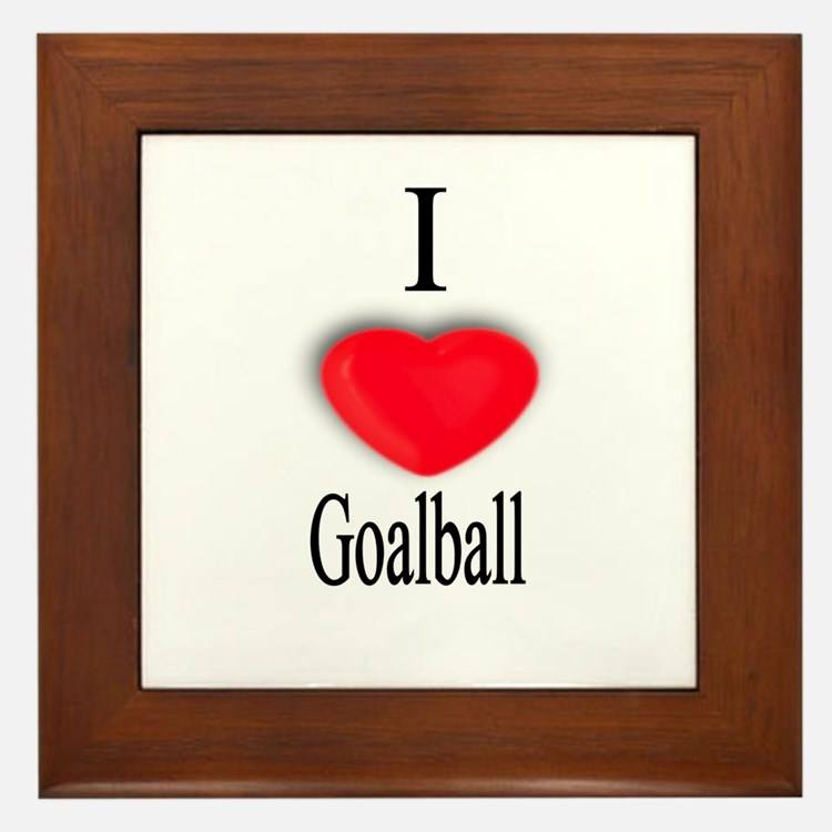 Goalball Framed Tile