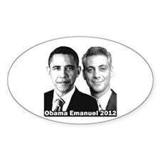 Obama Emanuel 2012 - Oval Decal