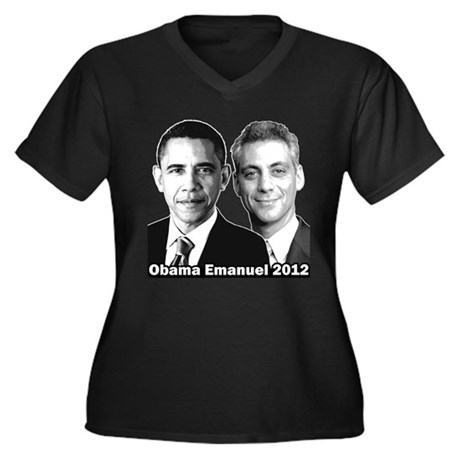 Obama Emanuel 2012 - Women's Plus Size V-Neck Dark