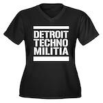 Detroit Techno Militia Women's Plus Size V-Neck Da