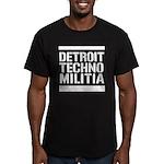 Detroit Techno Militia Men's Fitted T-Shirt (dark)