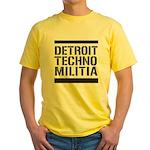 Detroit Techno Militia Yellow T-Shirt